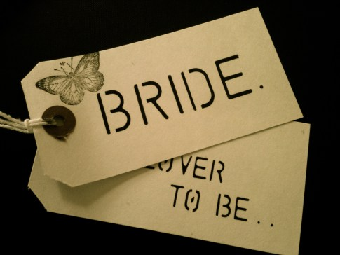 Rubber stamp name cards