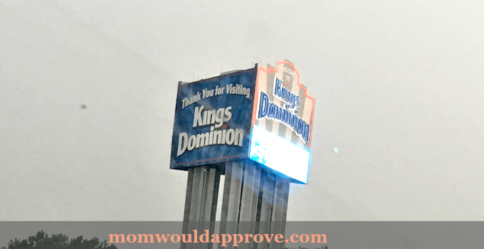 Kings Dominion Exit