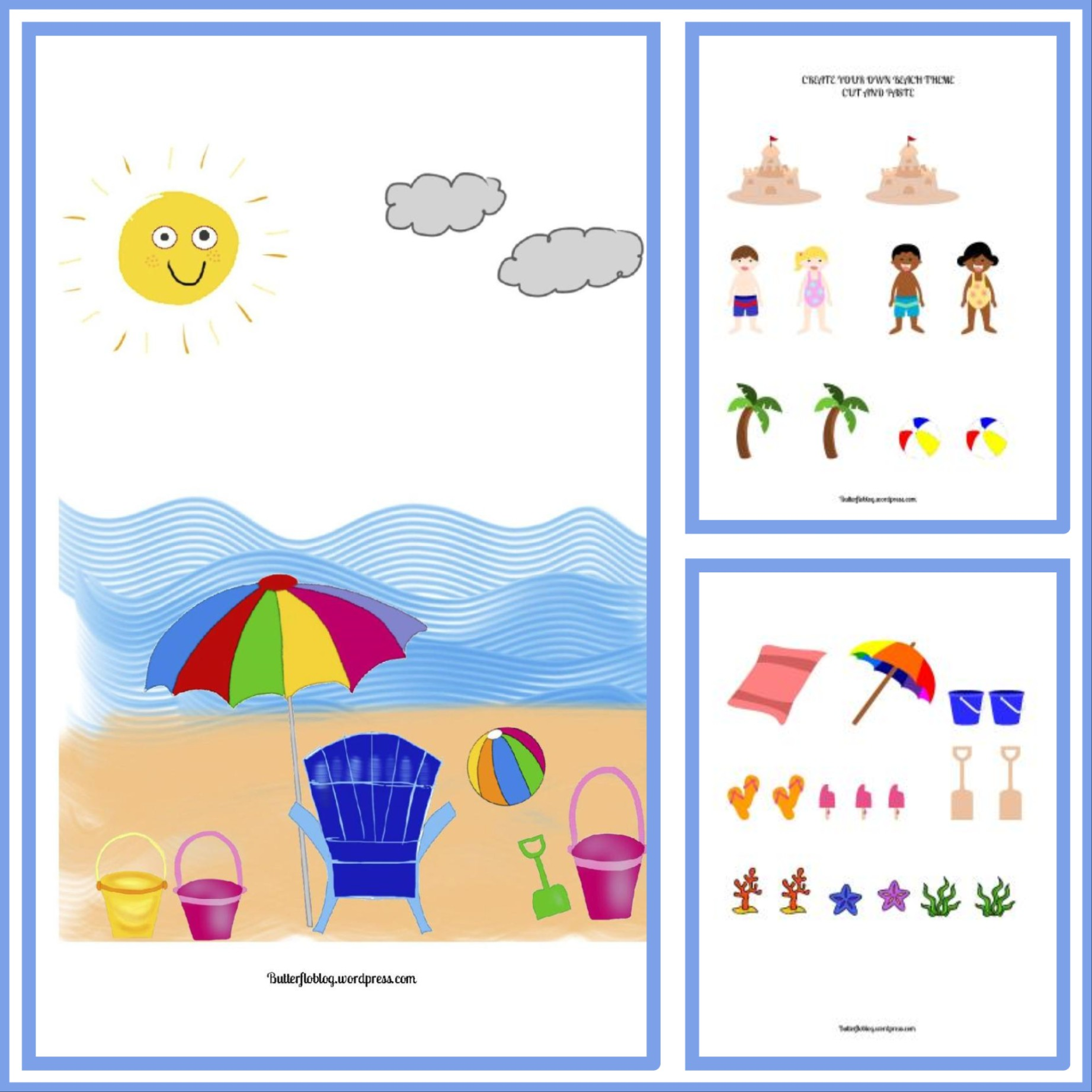 Create Your Own Beach Theme Activity Here S One I Made