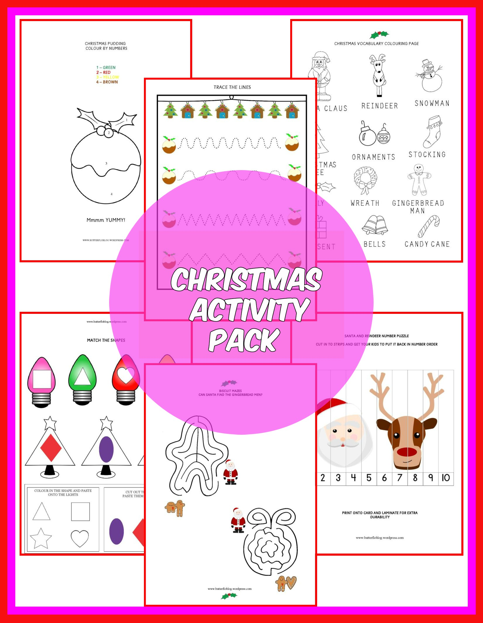 Christmas Activity Pack Butterflo Kids