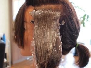 ビビり毛 塗布