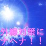 紫外線対策
