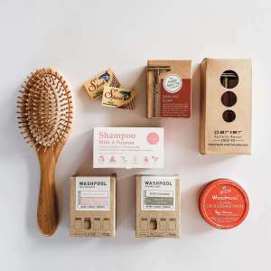 Sustainable and plastic free beauty products in an eco kit
