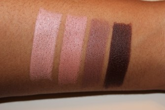 Swatches of the NoOd Collection: Sext, NoOd, Laced, and Catsuit