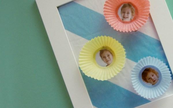 Bilderrahmen Muttertagsgeschenk basteln