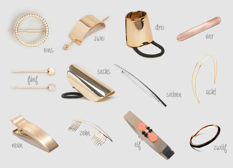 Schöne Haarspangen minimalistische Haaraccessoires Haargummi in chic