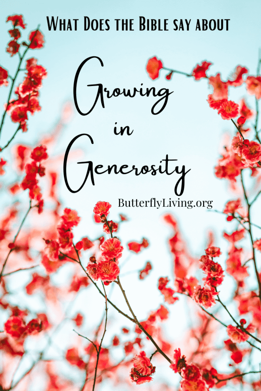 Flowers-what does the Bible say about generosity