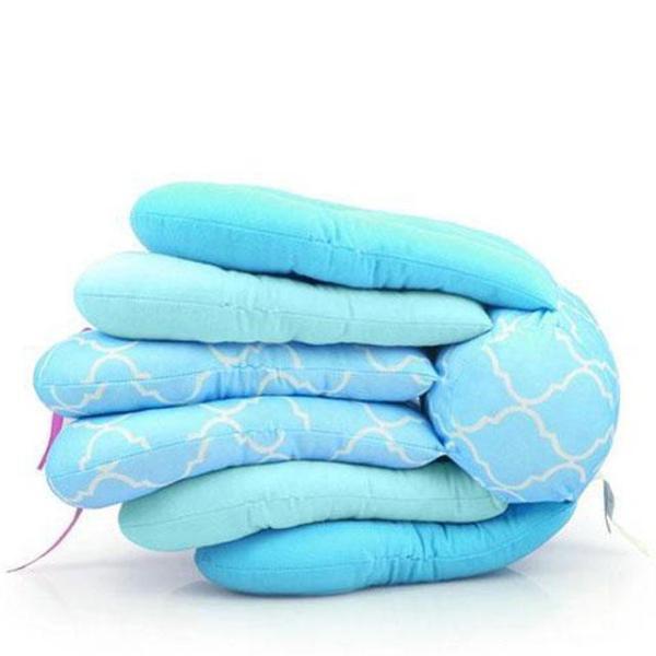 butterfly nursing pillow blue