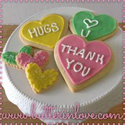 Valentines Conversation Heart Sugar Cookies