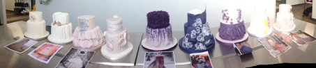 Our finished cakes with inspiration pictures