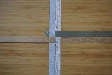 Schritt 14: Schritt 9 bis 13 werden nun mit den anderen drei Streifen wiederholt.