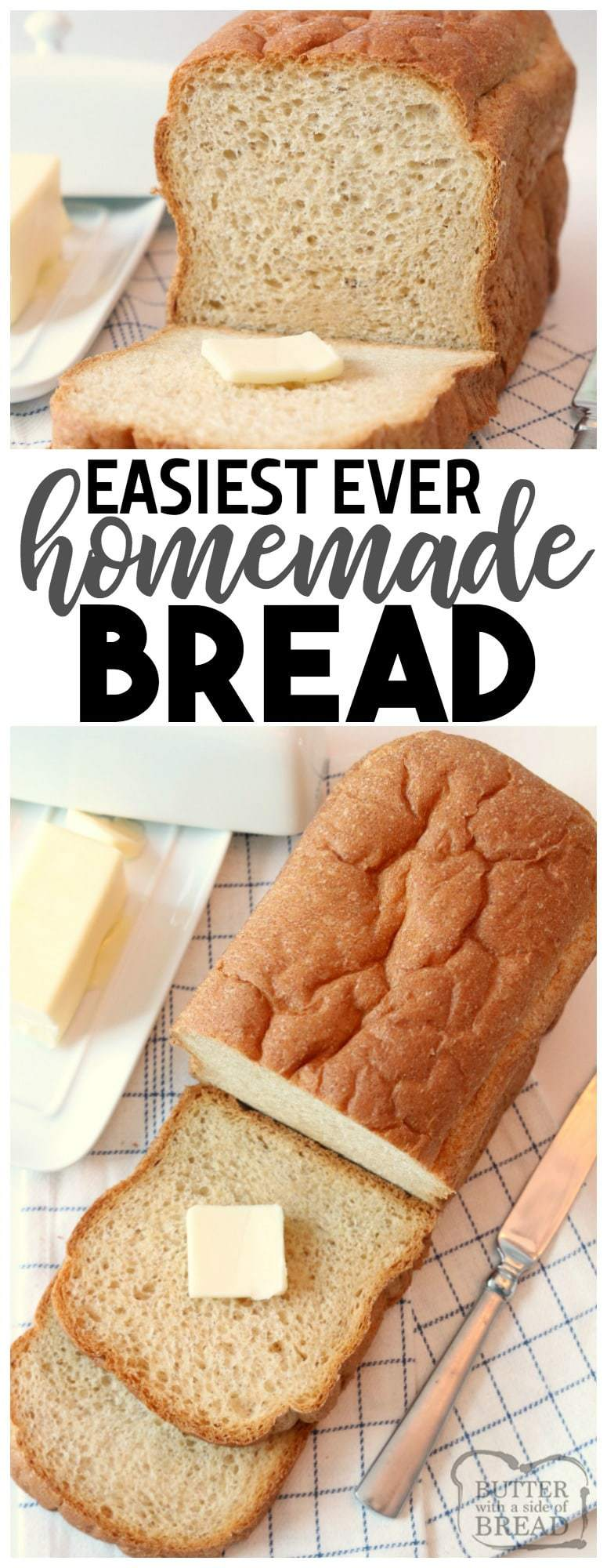 Easy Bread recipe  made with simple ingredients & detailed instructions showing how to make bread! Best homemade bread recipe for both beginners and expert bakers.
