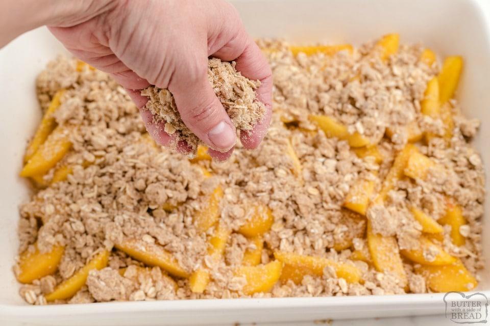 How to make Peach Crumble