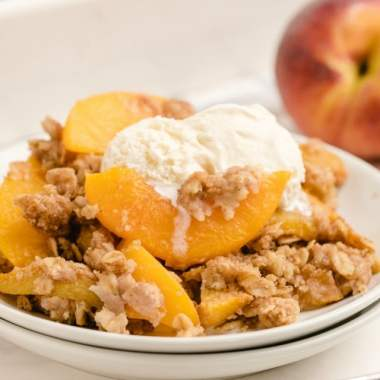 How to make Peach Crumble recipe