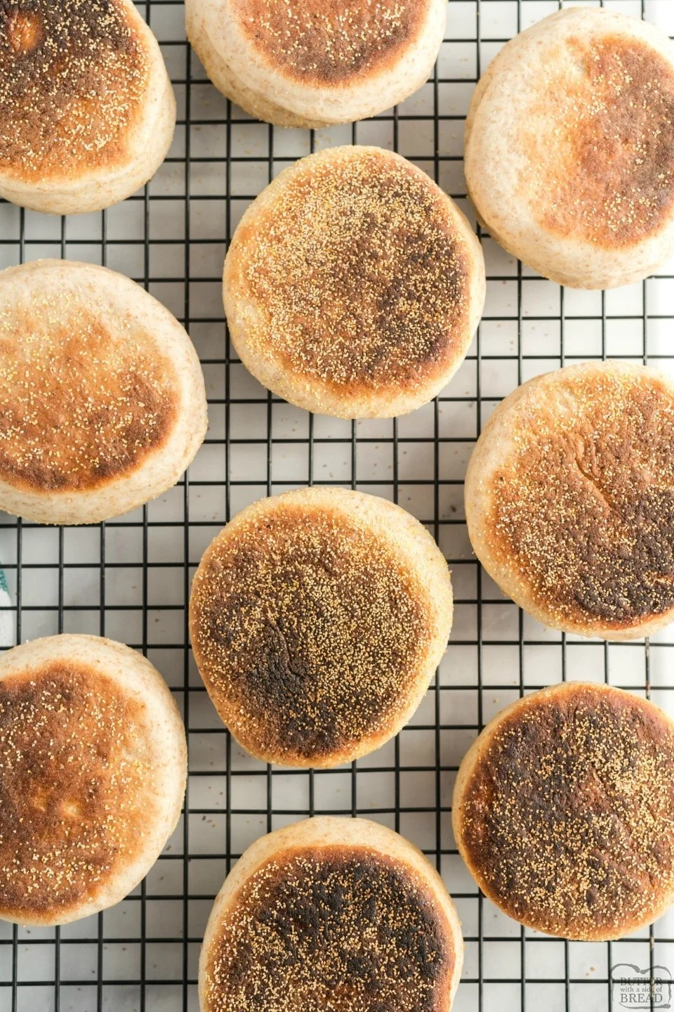 Homemade English Muffins are so simple to make that you'll never want to buy store-bought again. Fluffy English muffin recipe full of nooks and crannies! You'll love everything from the smell to the textures and flavors.