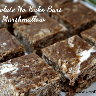 CHOCOLATE NO BAKE BARS WITH MARSHMALLOW