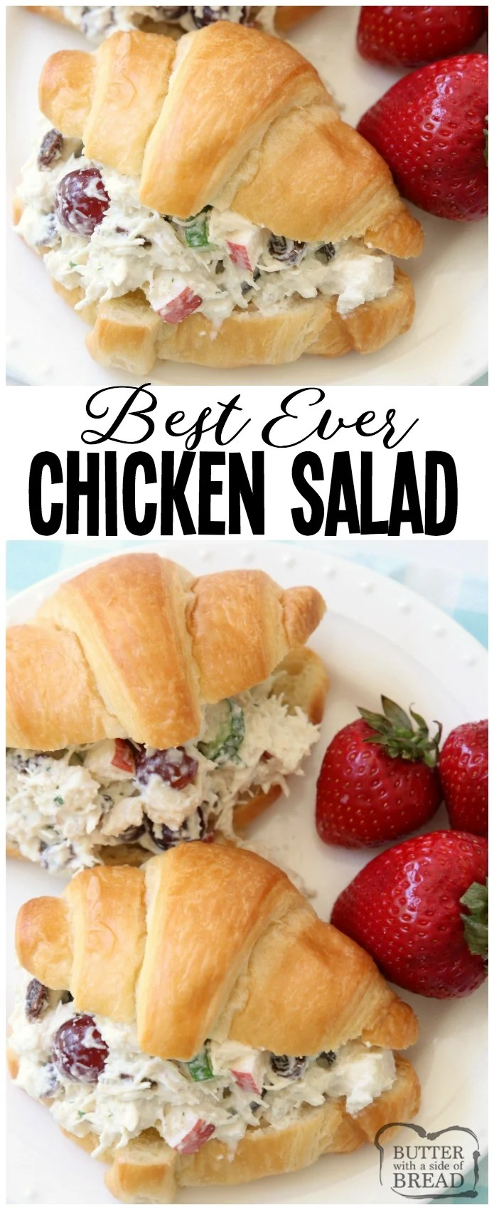 5 Minute Chicken Salad Butter With A Side Of Bread