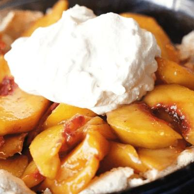 SUPER EASY PEACH PIE