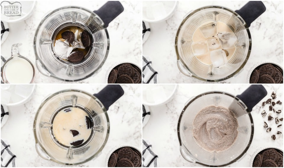 How to make Easy Skinny Oreo Milkshakes