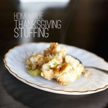 Thanksgiving isn't the same without stuffing, and this easy stuffing recipe is going to help you take your holidays to the next level. With a loaf of bread, fresh vegetables, and chicken stock, you can create a homemade stuffing that everyone remembers for years.