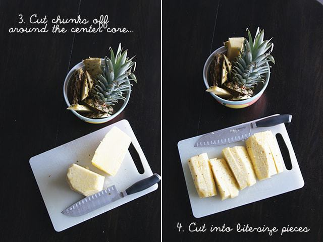 Butter with a Side of Bread, how to cut a pineapple