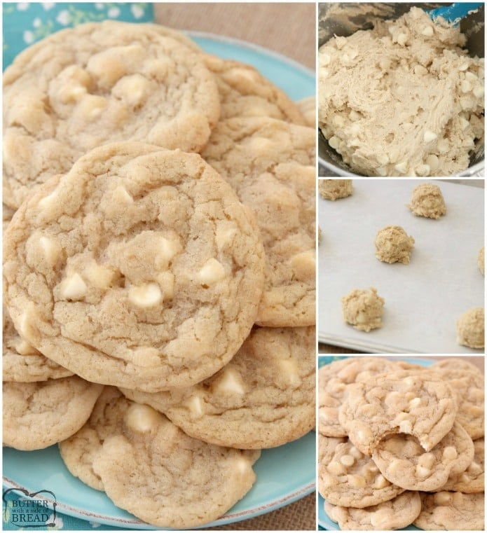 Mrs Fields White Chocolate Chip Cookies Butter With A Side Of Bread