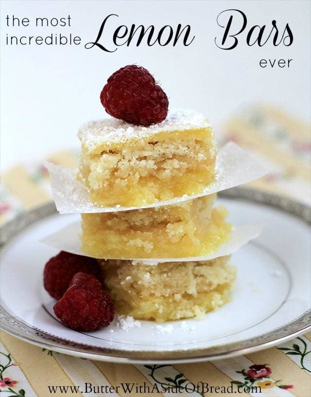 Lemon Bars: Butter with a Side of Bread