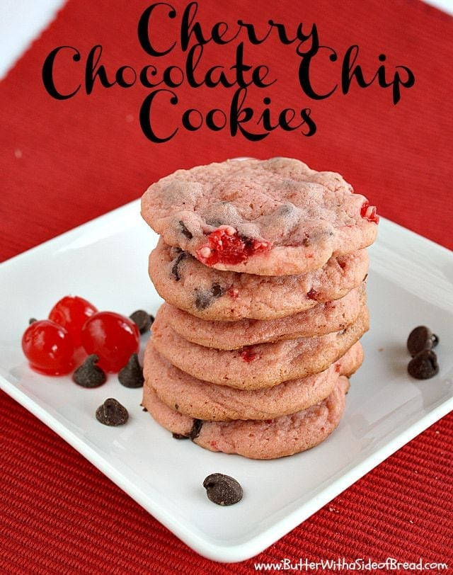 Cherry Chocolate Chip Cookies are soft, chewy and bursting with cherry flavor - it's the perfect twist on the classic chocolate chip cookie!