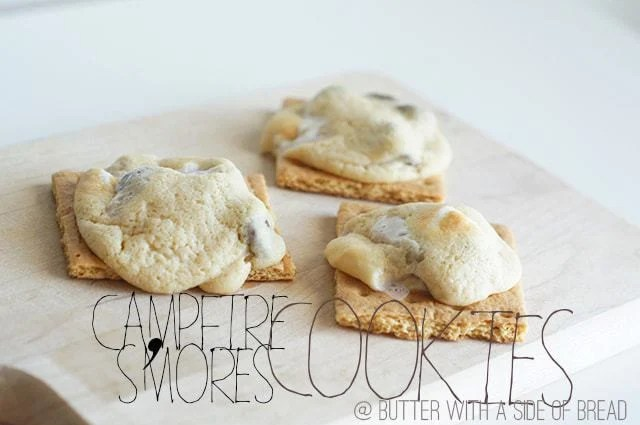 Campfire Smores Cookies - butter with a side of bread
