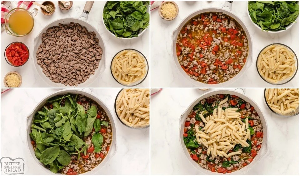 how to make Light Spinach, Sausage & Pepper Pasta