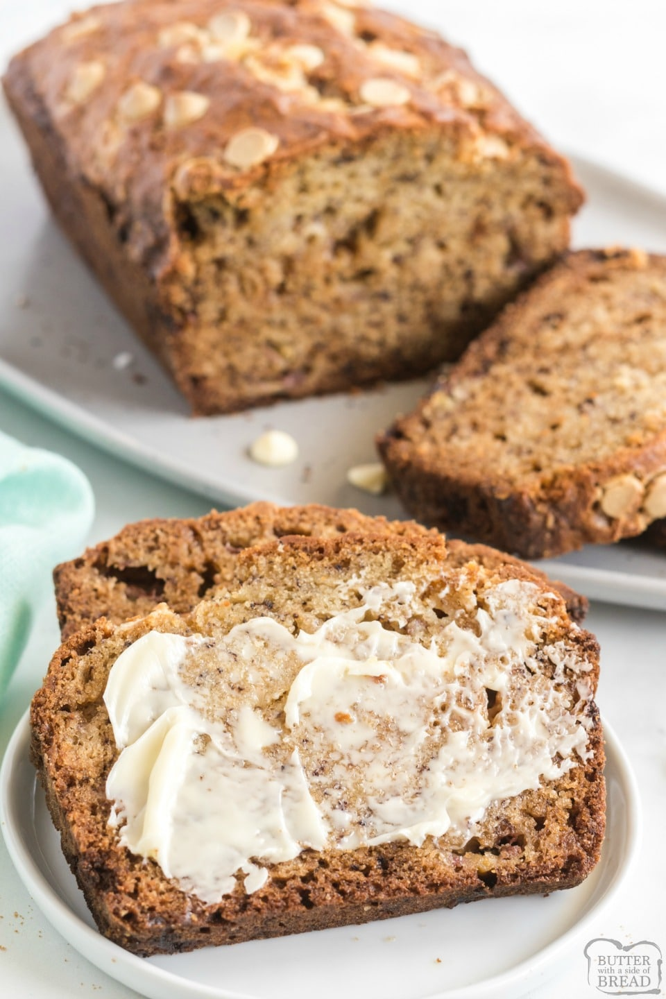 White Chocolate Chip Banana Bread recipe