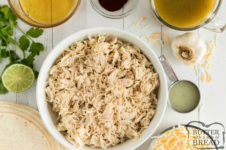 Ingredients in chicken enchilada recipe