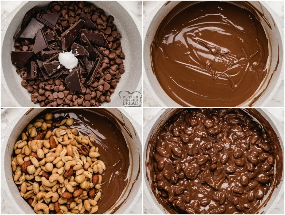 how to make Easy Chocolate Nut Clusters