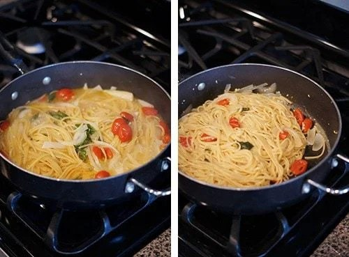 martha's one pan pasta, butter with a side of bread