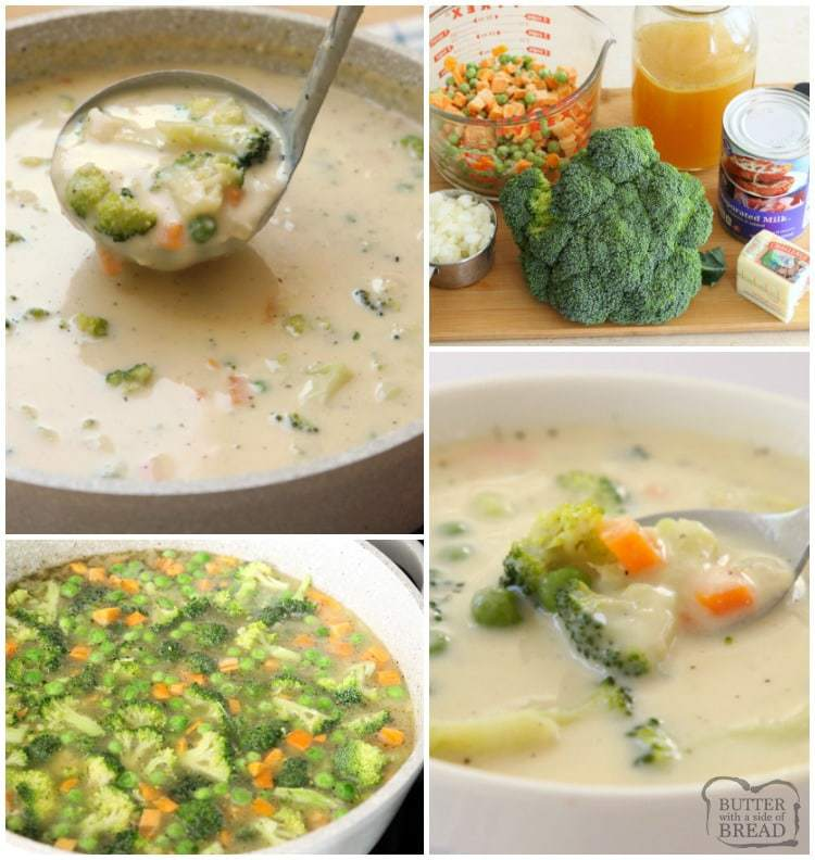 Easy Vegetable Soup: Butter With A Side Of Bread