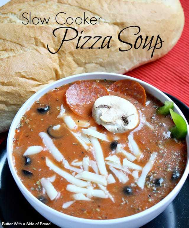 Butter With a Side of Bread: Slow Cooker Pizza Soup