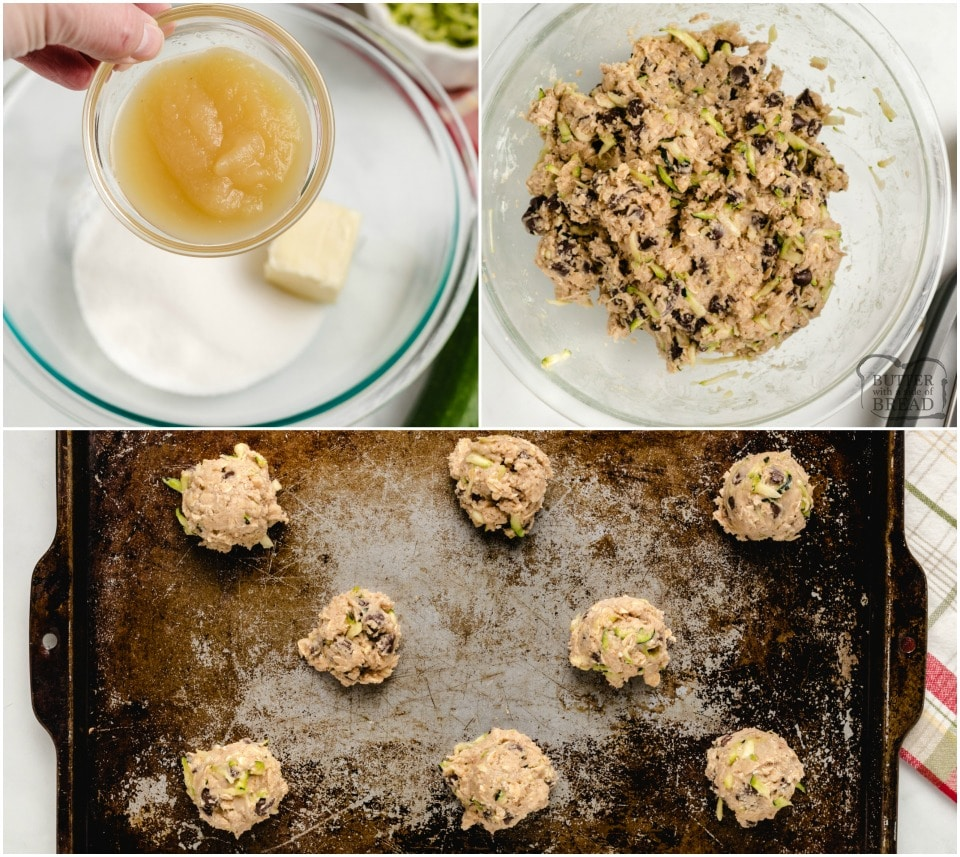 how to make Low fat, low sugar Zucchini cookies with chocolate chips