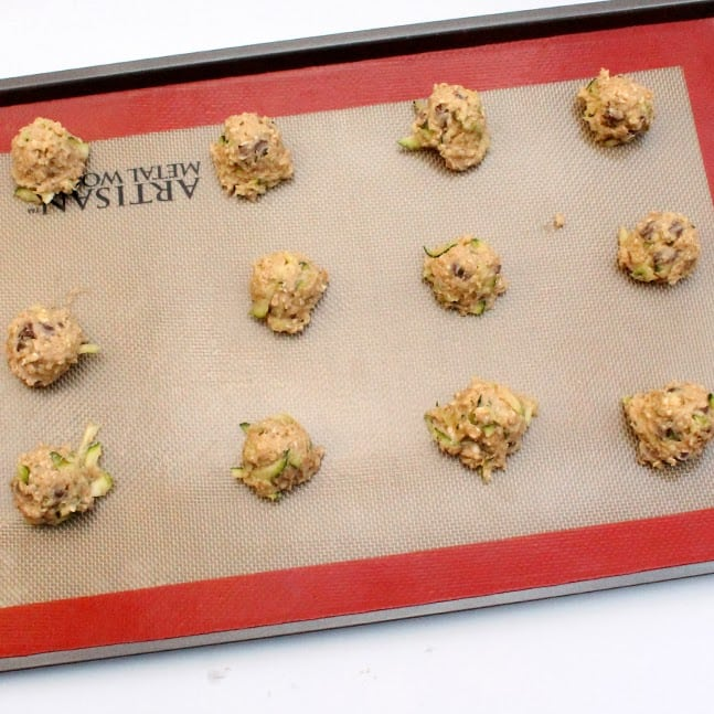 Low Fat Zucchini Cookies:Butter with a side of Bread