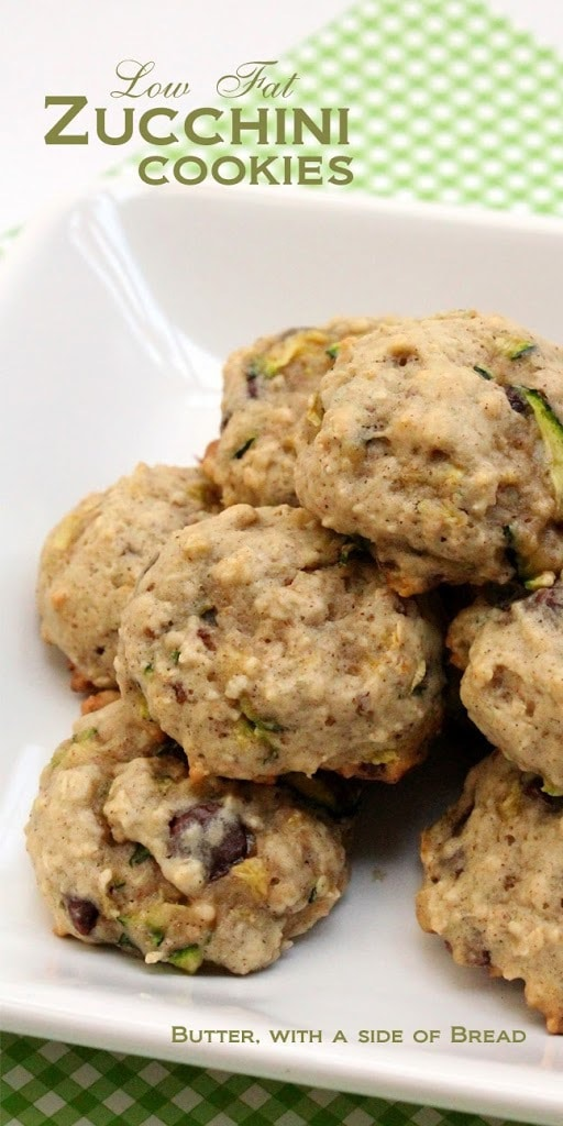 Low Fat Zucchini Cookies are perfect for those zucchini bread cravings! Soft, flavorful and lower in fat, these easy-to-make cookies taste incredible!