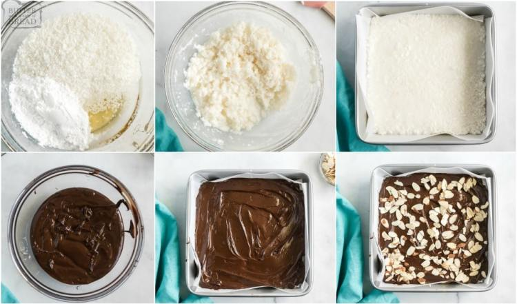 How to make Low Sugar, Low Carb Homemade Almond Joy Bars