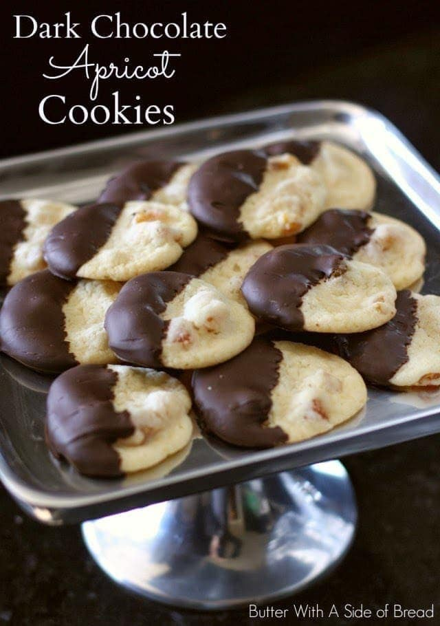 DARK CHOCOLATE APRICOT COOKIES: Butter With A Side of Bread