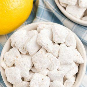 White Chocolate Lemon Muddy Buddies recipe