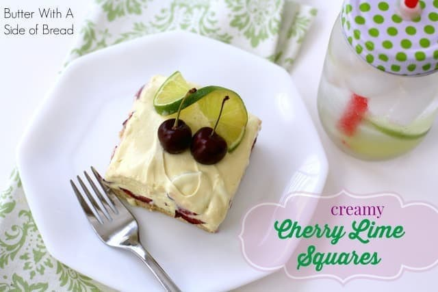 CREAMY CHERRY LIME SQUARES: Butter With A Side of Bread