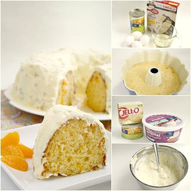 Step by step instructions on how to make Mandarin Orange Cake with Pineapple Frosting