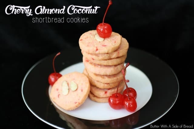 CHERRY ALMOND COCONUT SHORTBREAD COOKIES: Butter With A Side of Bread