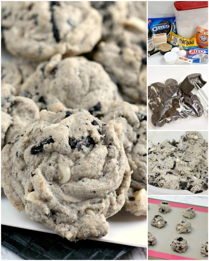 Cookies & Cream Cookies are made with Oreo pudding, white chocolate chips and chunks of Oreo cookies. This delicious cookie recipe yields perfectly soft and chewy cookies every time!