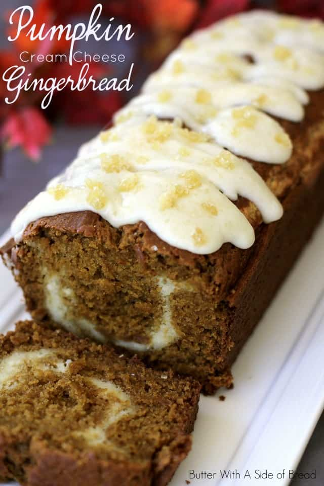 PUMPKIN CREAM CHEESE GINGERBREAD: Butter With A Side of Bread