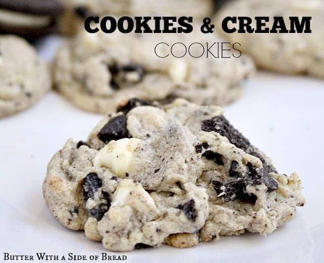 Cookies & Creme Cookies are perfectly soft and chewy and everyone loves the white chocolate and Oreo cookie combination inside!