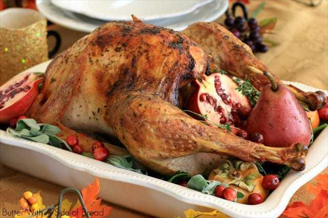 CLASSIC ROASTED TURKEY: Butter With A Side of Bread