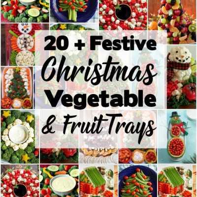FESTIVE CHRISTMAS VEGGIE TRAYS & PLATTERS